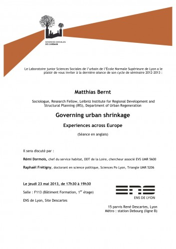 Governing Urban Shrinkage